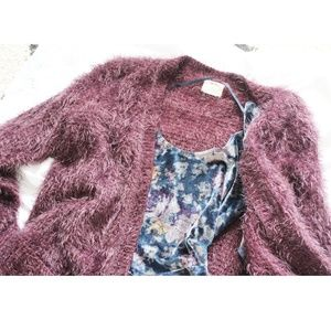 Urban Outfitters - Purple Fuzzy Cardigan